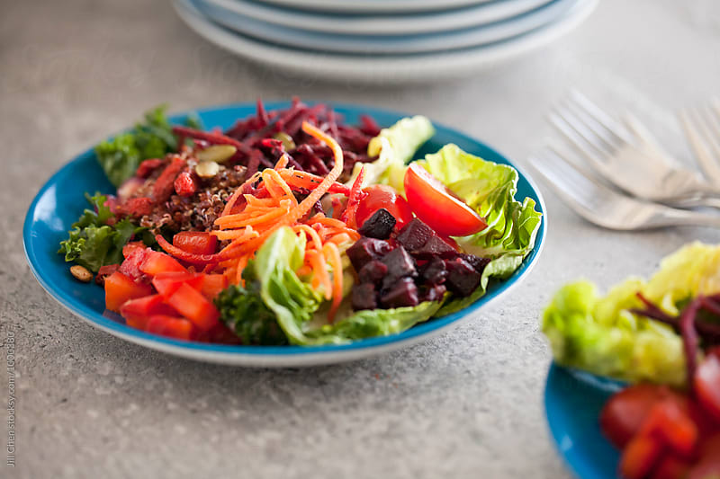 Heatlhy Red Salad by Jill Chen for Stocksy United
