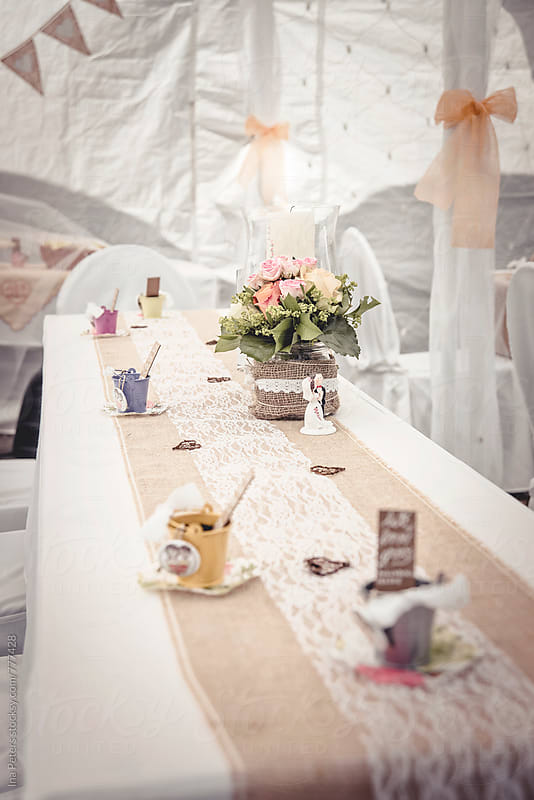 Wedding table decoration by Ina Peters for Stocksy United