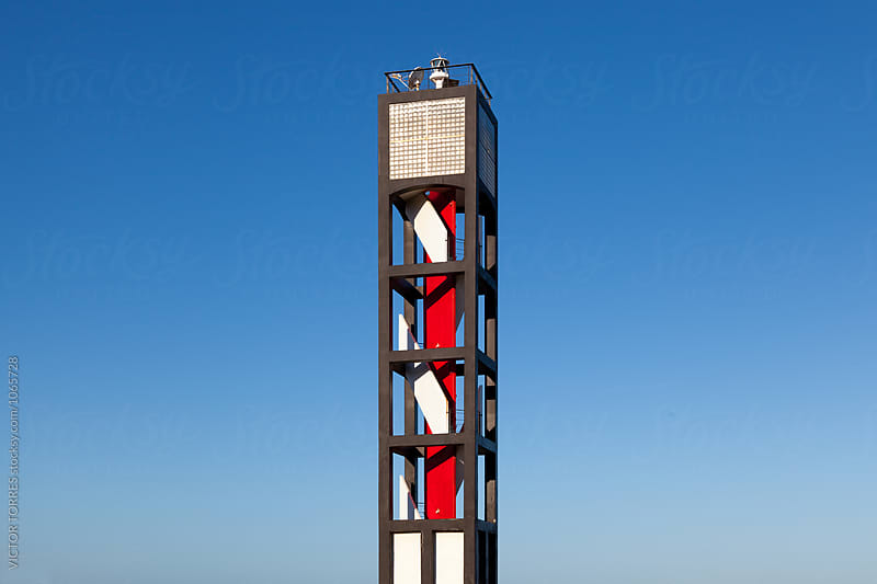 Modern Lighthouse in Puerto de la Cruz, Tenerife by Victor Torres for Stocksy United