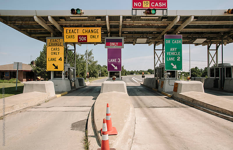 Toll Booth on Highway by Raymond Forbes LLC for Stocksy United
