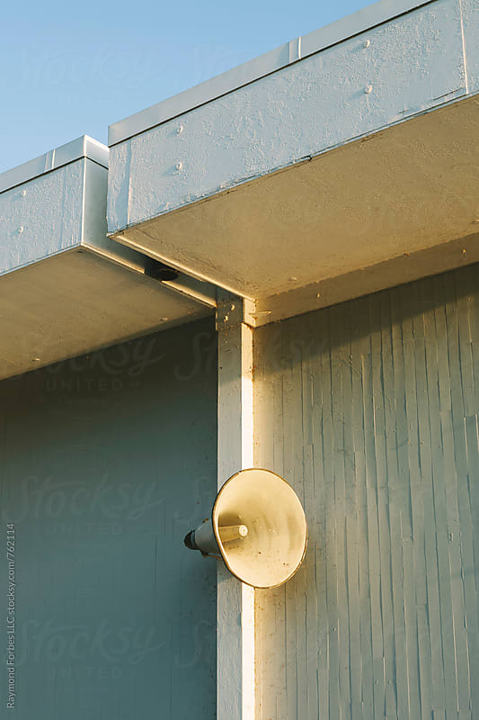 Loudspeaker on Wall by Raymond Forbes LLC for Stocksy United