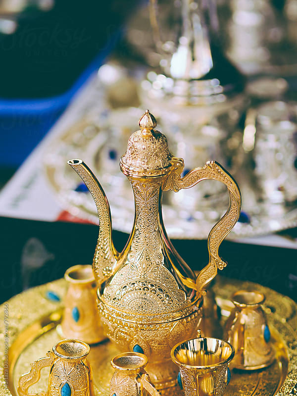 An Arabian tea set by Murtaza Daud for Stocksy United