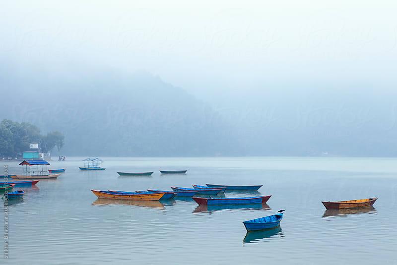 Tranquil morning in Fewa Lake, Pokhara. by Shikhar Bhattarai for Stocksy United