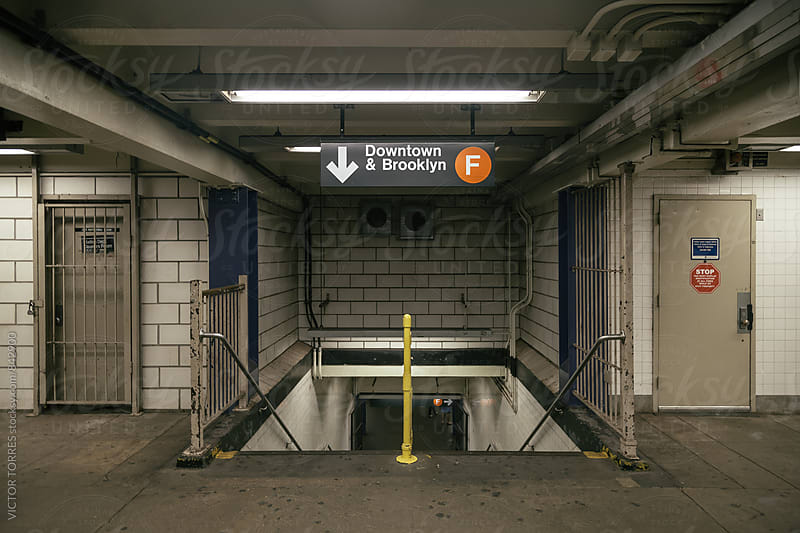 Subway Corridors in New York Subway by VICTOR TORRES for Stocksy United