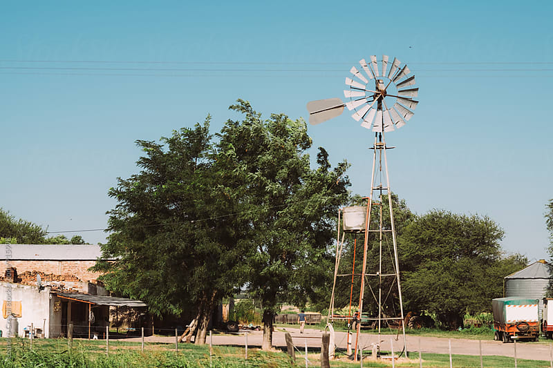 Image of an old mill in a rural stay by Leandro Crespi for Stocksy United