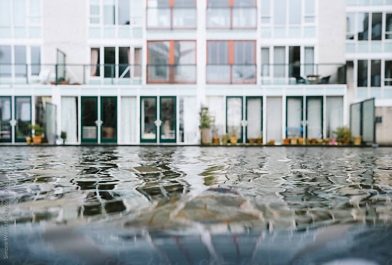 Dutch architecture with houses and water by GIC for Stocksy United