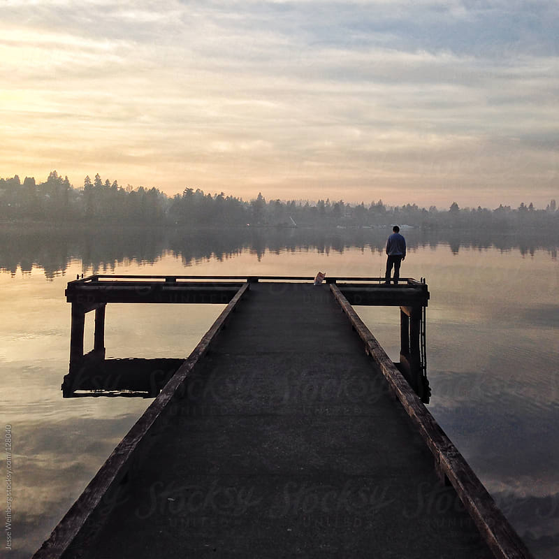 Perfect Dock Reflection by Jesse Weinberg for Stocksy United