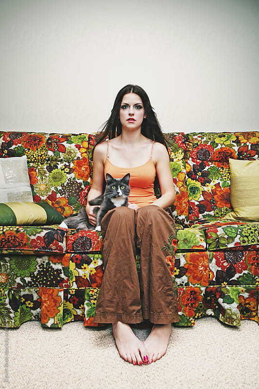 Cat Lady by Kevin Russ for Stocksy United