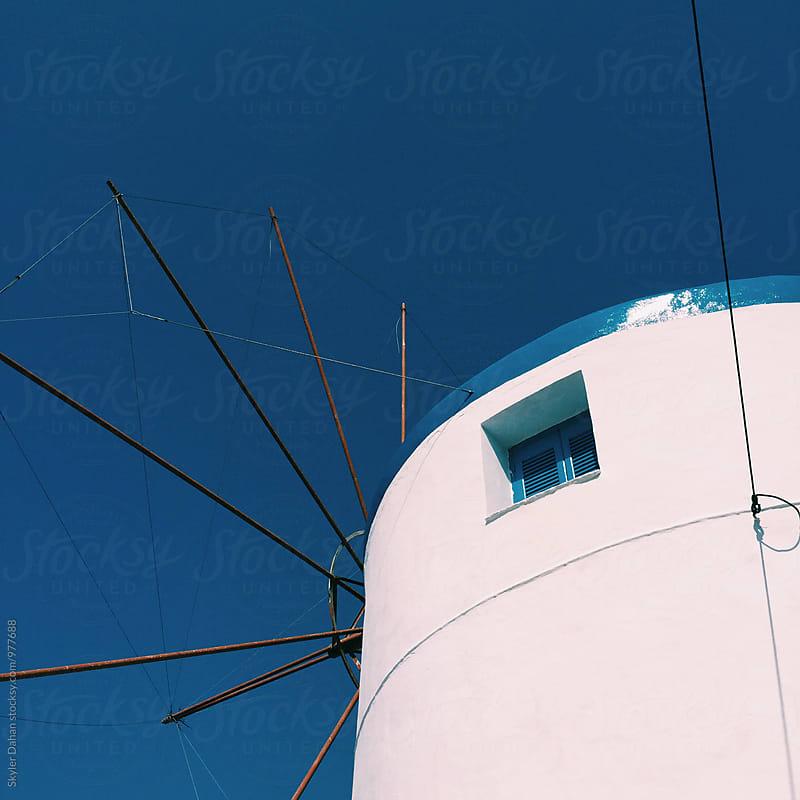 Greek Windmill by Skyler Dahan for Stocksy United