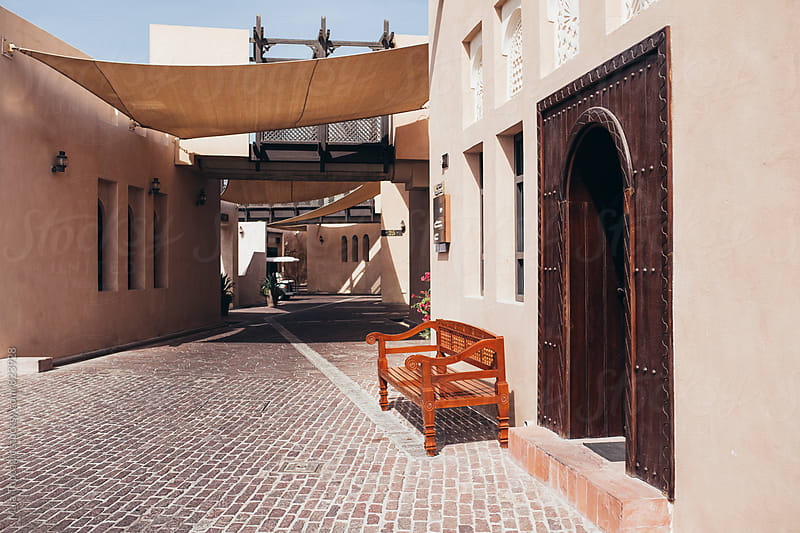 Beautiful streets of old town Doha by Maja Topcagic for Stocksy United