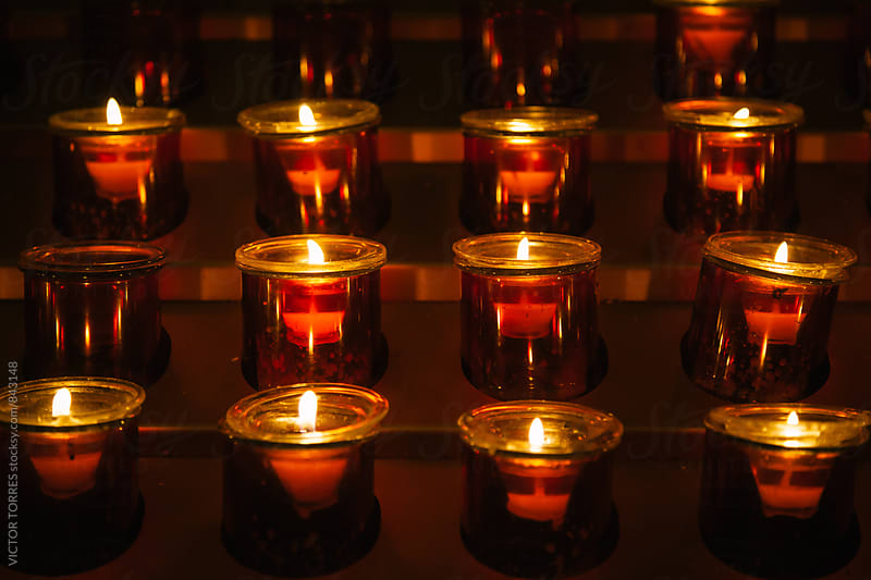 Candles in the Church by VICTOR TORRES for Stocksy United
