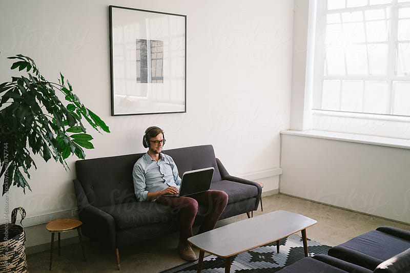 Working from Home by Bruce Meissner for Stocksy United