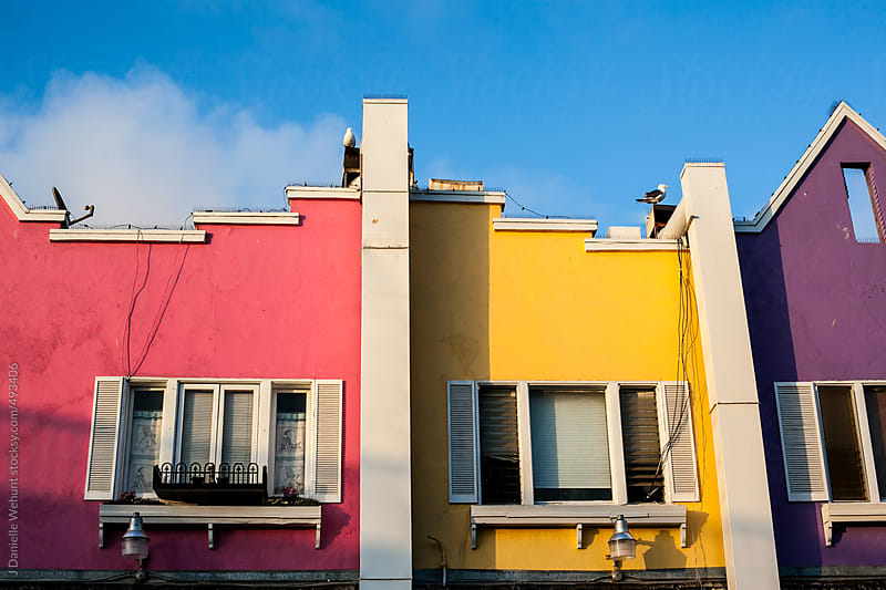 Brightly Painted Buildings in Santa Monica, California by J Danielle Wehunt for Stocksy United