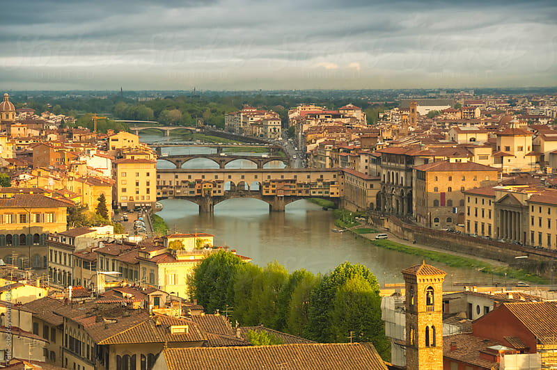 Florence cityscape at dawn by GIC for Stocksy United