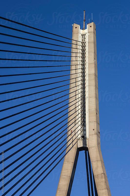 Detail of the Vansu Bridge in Riga, Latvia by Melanie Kintz for Stocksy United