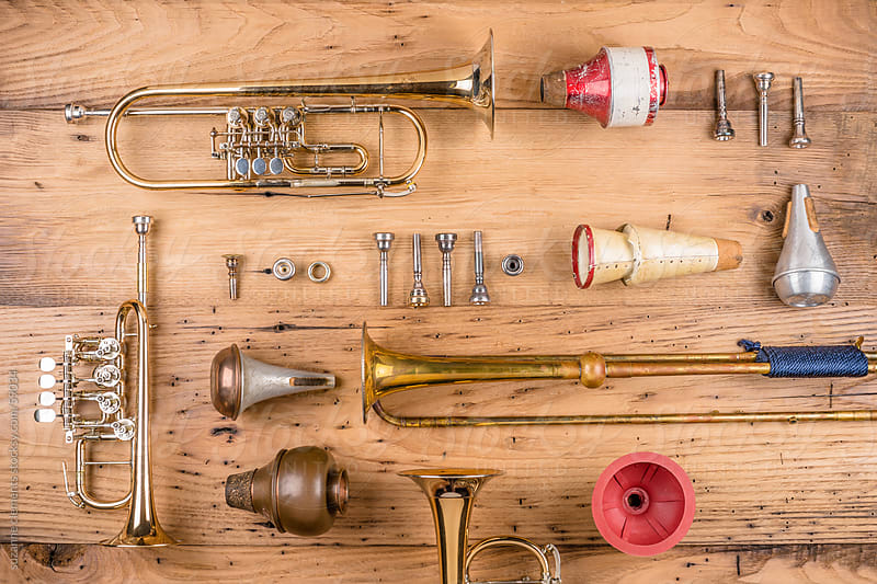 A Collection of Vintage and Antique Musical Instruments by suzanne clements for Stocksy United