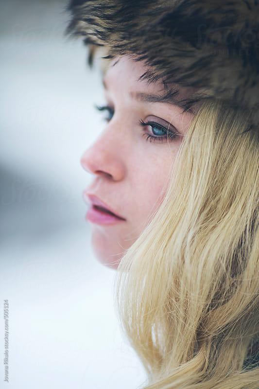 Blonde woman portrait by Jovana Rikalo for Stocksy United