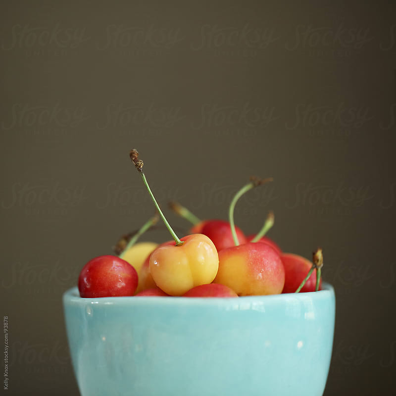 cherries in a bowl by Kelly Knox for Stocksy United