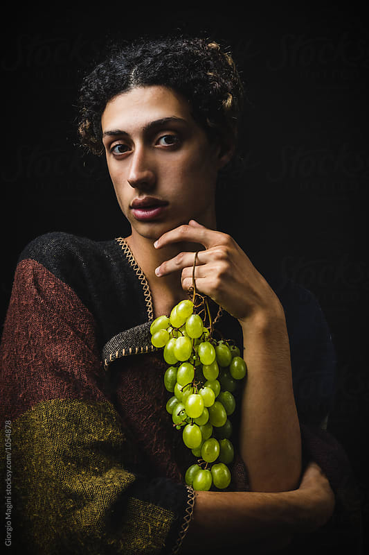 Baroque Styled Portrait with Green Grapes by Giorgio Magini for Stocksy United
