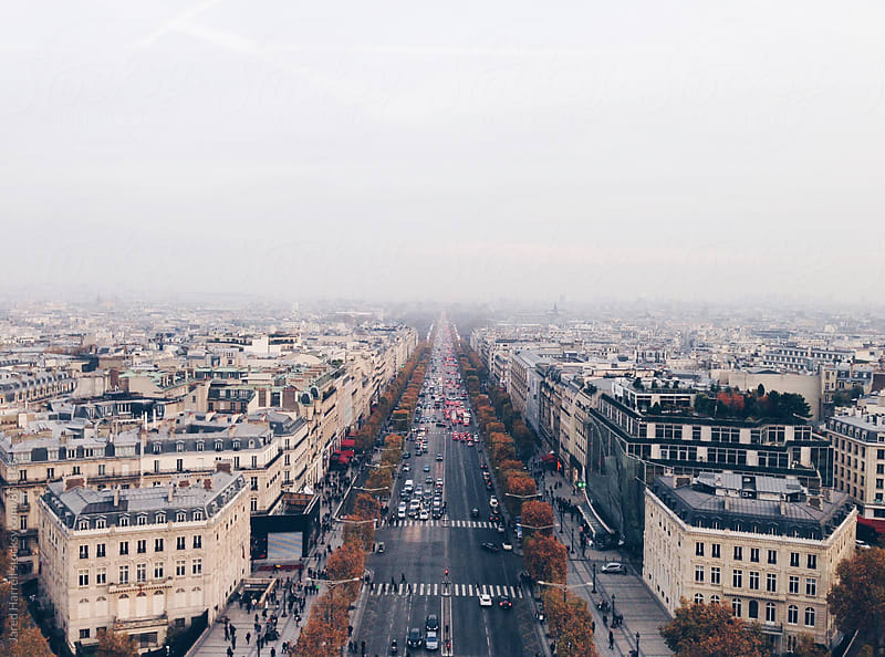 Champs Elysees from Arc de Triomphe. by Jared Harrell for Stocksy United