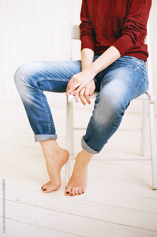 Woman wearing jeans. Crop shot. by Lyuba Burakova for Stocksy United