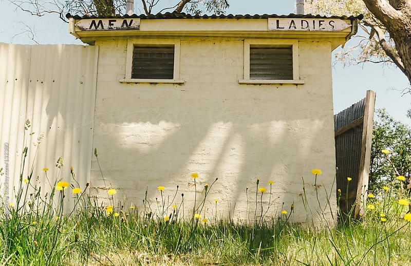 Old Toilet Block in Australian Bush by Gary Radler Photography for Stocksy United