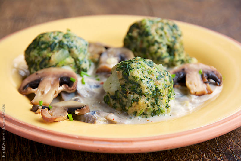 Spinach Knödel (Dumplings) by Harald Walker for Stocksy United