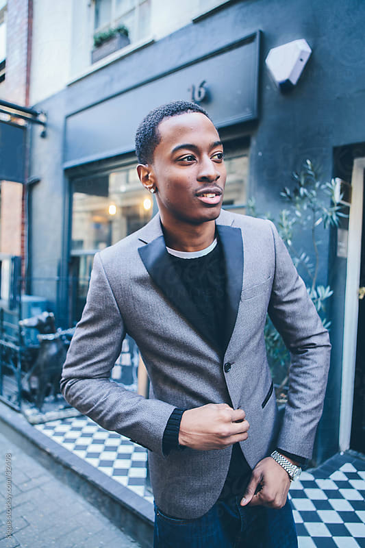 Young black man in Soho London. by kkgas for Stocksy United