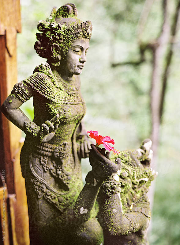 Stone Carving in Ubud Bali  by Vicki Grafton Photography for Stocksy United