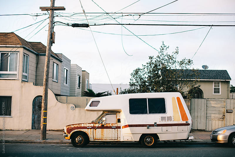 Hippie van in San Francisco by Lukas Korynta for Stocksy United