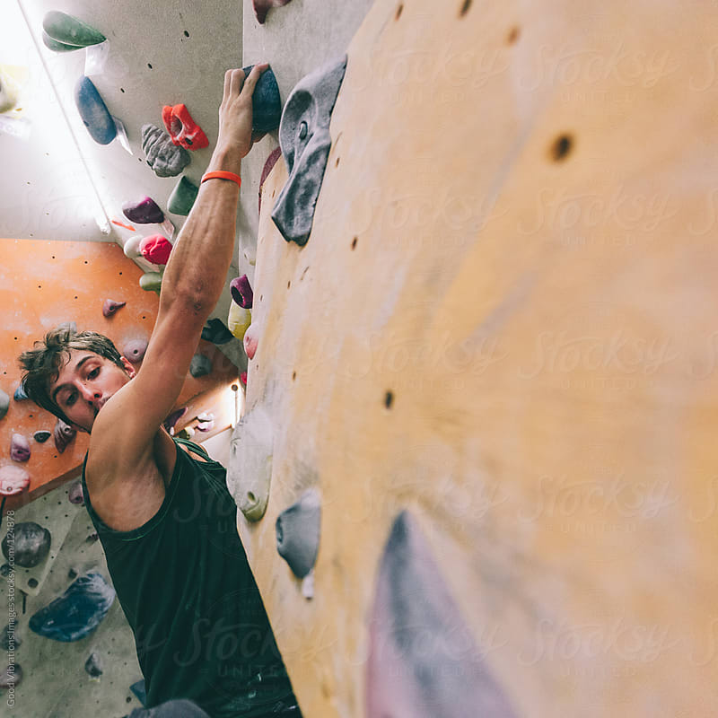 Bouldering Indoors by Good Vibrations Images for Stocksy United