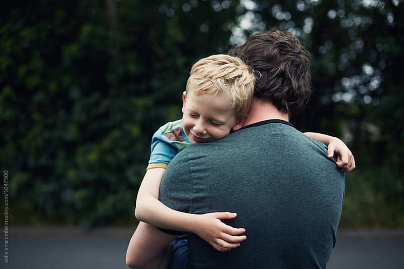 Father and son together by sally anscombe for Stocksy United