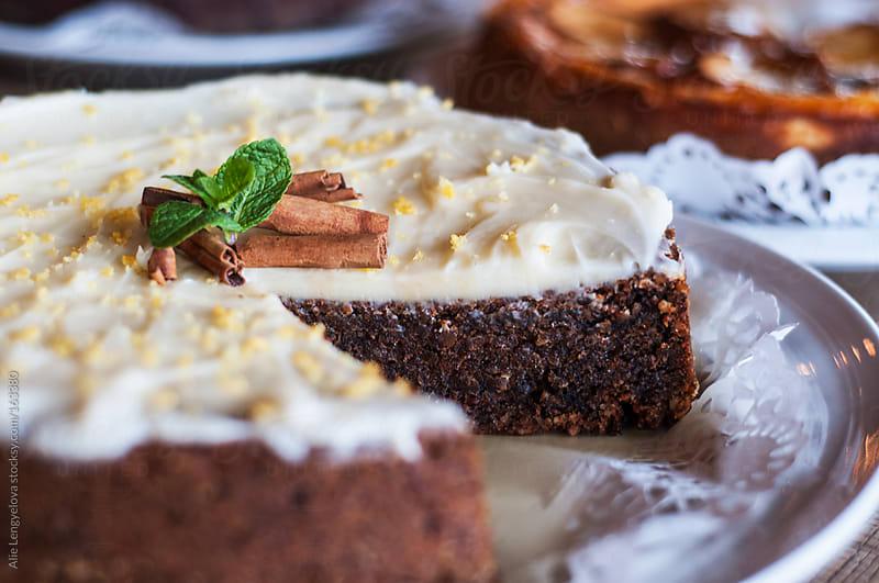 Carrot Cake (Detail) by Alie Lengyelova for Stocksy United