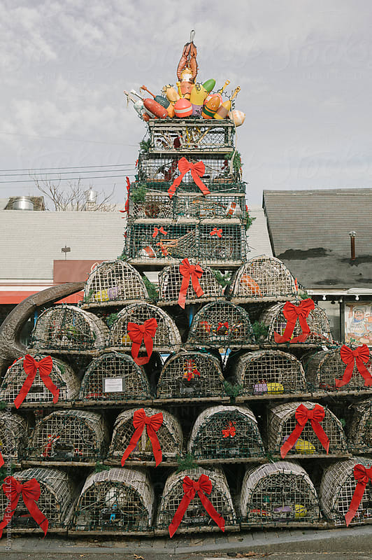 Lobster Trap Christmas Tree by Raymond Forbes LLC for Stocksy United