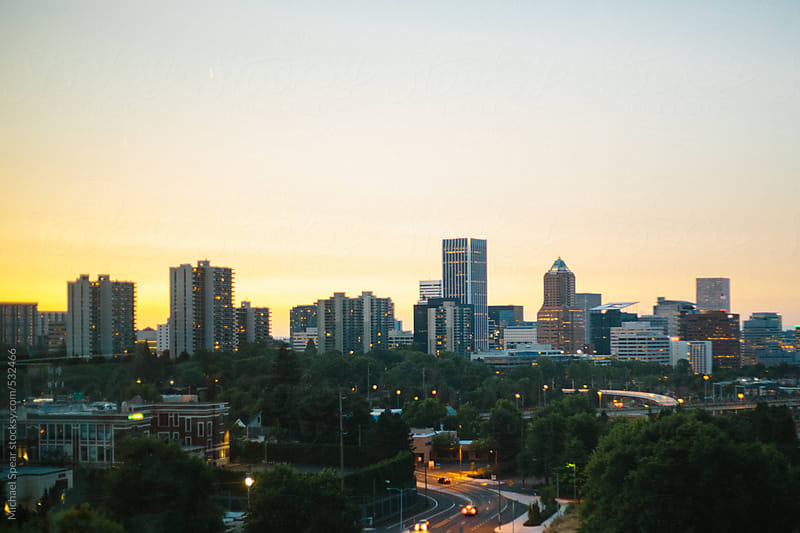 Sunset Over Portland by Michael Spear for Stocksy United