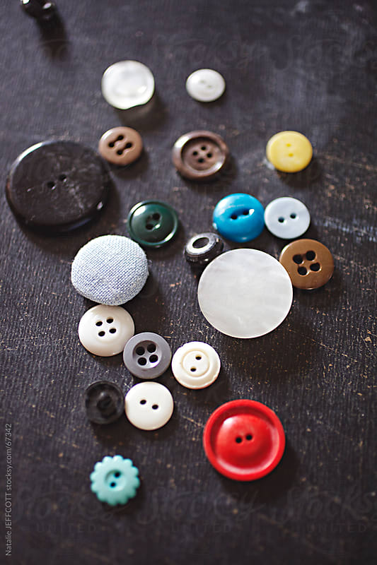collection of buttons by Natalie JEFFCOTT for Stocksy United