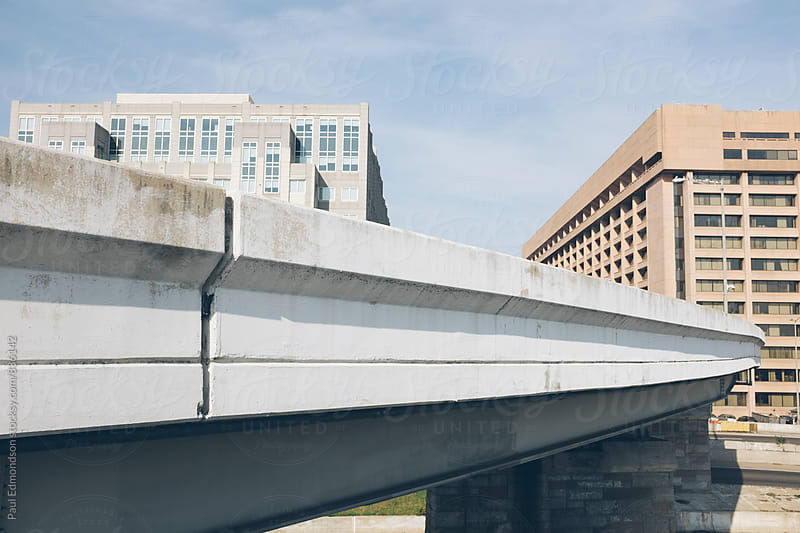 Highway offramp and office buildings by Paul Edmondson for Stocksy United