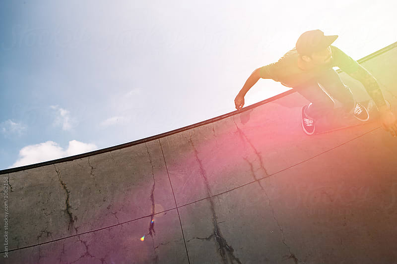 stock photo: skateboarder