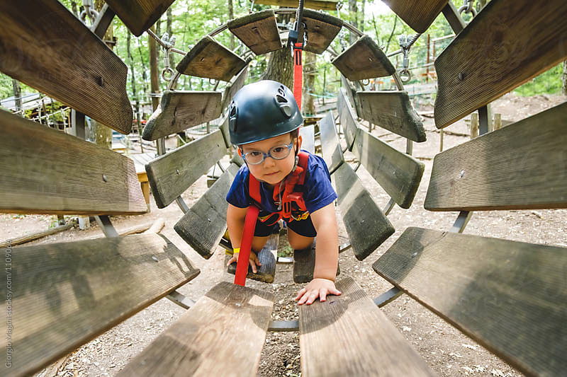Toddler Boy at the Adventure Park