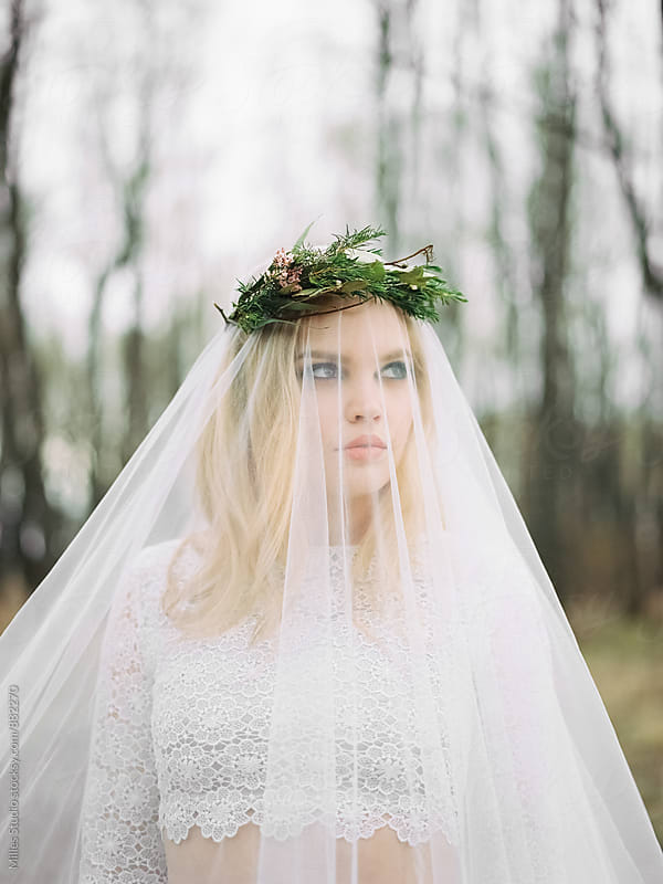 Bride closeup portrait by Milles Studio for Stocksy United