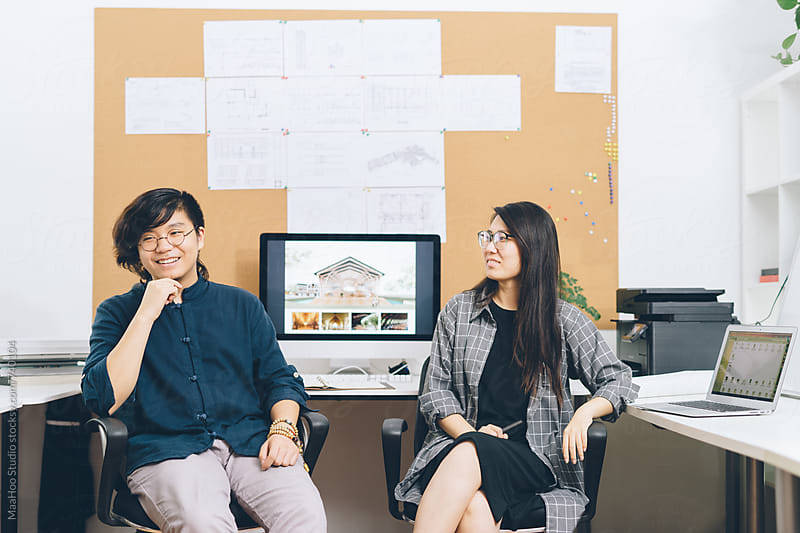 Portrait of graphic designers at work by Maa Hoo for Stocksy United