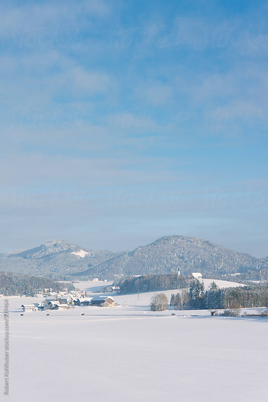 Winter landscape in austria by Robert Kohlhuber for Stocksy United