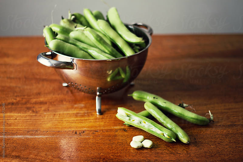 Fresh Broad Beans by Helen Rushbrook for Stocksy United