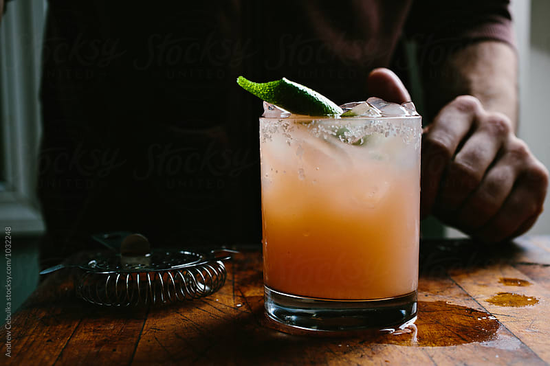Paloma Cocktail  by Andrew Cebulka for Stocksy United
