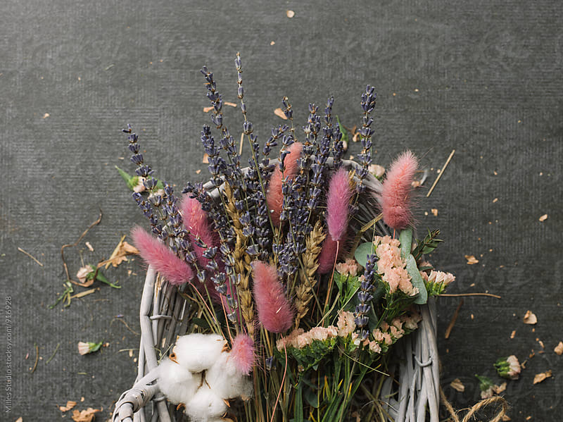 Basket of flowers by Milles Studio for Stocksy United
