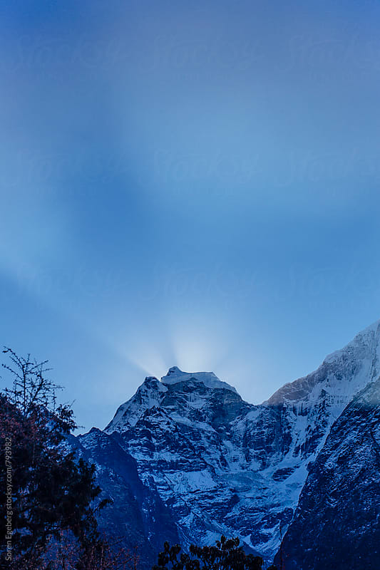 Sunrise on Mt. Ama Dablam, Everest region by Søren Egeberg Photography for Stocksy United