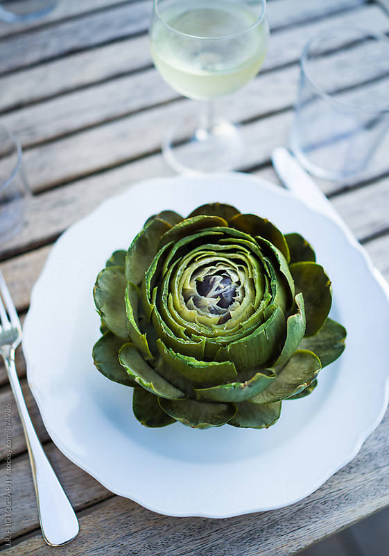 Plate of artichoke by J.R. PHOTOGRAPHY for Stocksy United