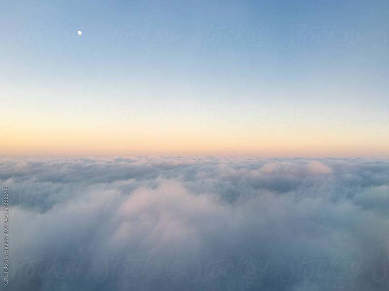Cloud landscape from the air by CACTUS Blai Baules for Stocksy United