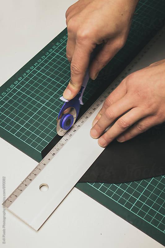 sewing process by Branislava Živić for Stocksy United