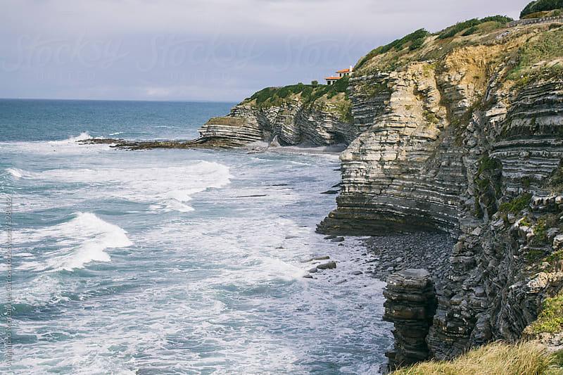 Sea and cliffs on northern Spain coast by Alejandro Moreno de Carlos for Stocksy United